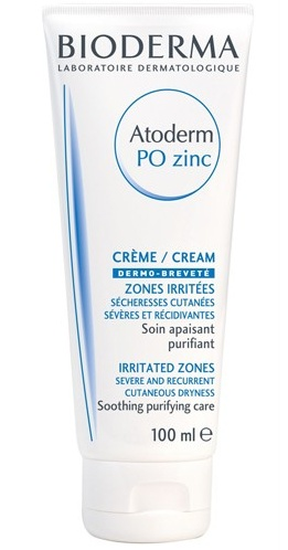 Bioderma Promašťující, zklidňující a hydratační krém Atoderm PO Zinc 100 ml