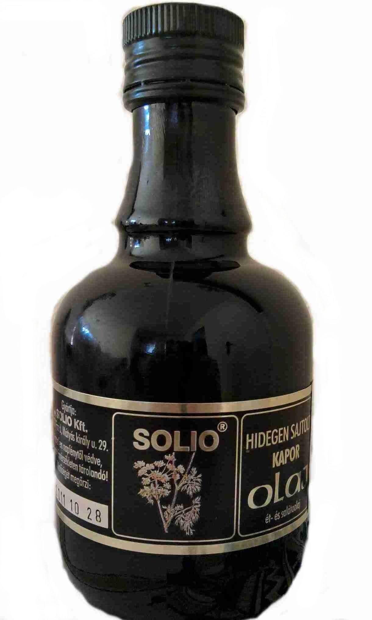Solio Koprový olej za studena lisovaný 250 ml
