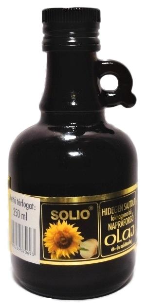 Solio Slunečnicový olej s česnekem za studena lisovaný 250 ml
