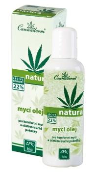Cannabis Pharma-Derm CANNADERM Bio Mycí olej Natura 100 ml