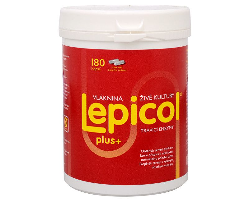 PROBIOTICS INTERNATIONAL LTD. Lepicol Plus - pro zdravá střeva 180 kapslí