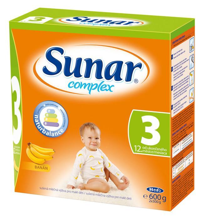 Hero Sunar complex 3 (sušené mléko) s příchutí banán 600 g