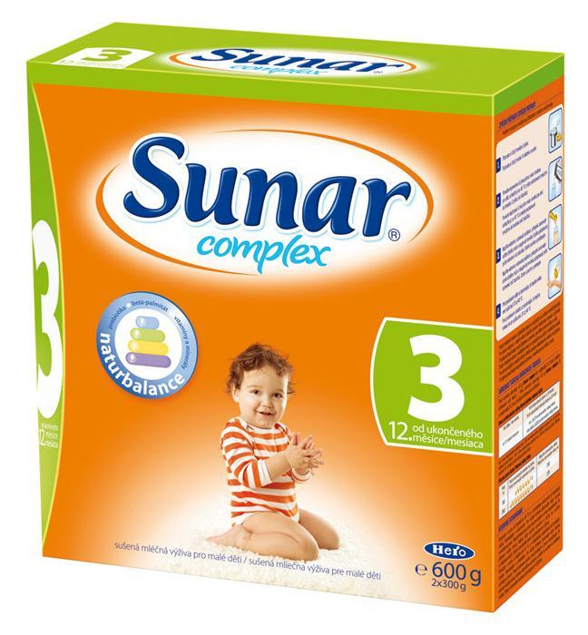 Hero Sunar complex 3 (sušené mléko) bez příchutě 600 g