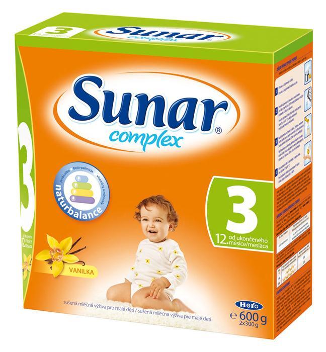 Hero Sunar complex 3 (sušené mléko) s příchutí vanilka 600 g