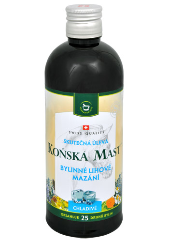 Herbamedicus Koňská mast - Bylinné lihové mazání chladivé 400 ml