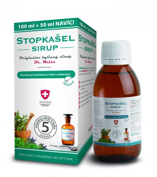 Simply You StopKašel sirup dr. Weiss pro děti 100 ml + 50 ml ZDARMA