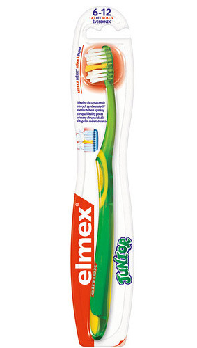 Gaba International Ltd. Elmex Zubní kartáček Junior pro děti od 6-12 let