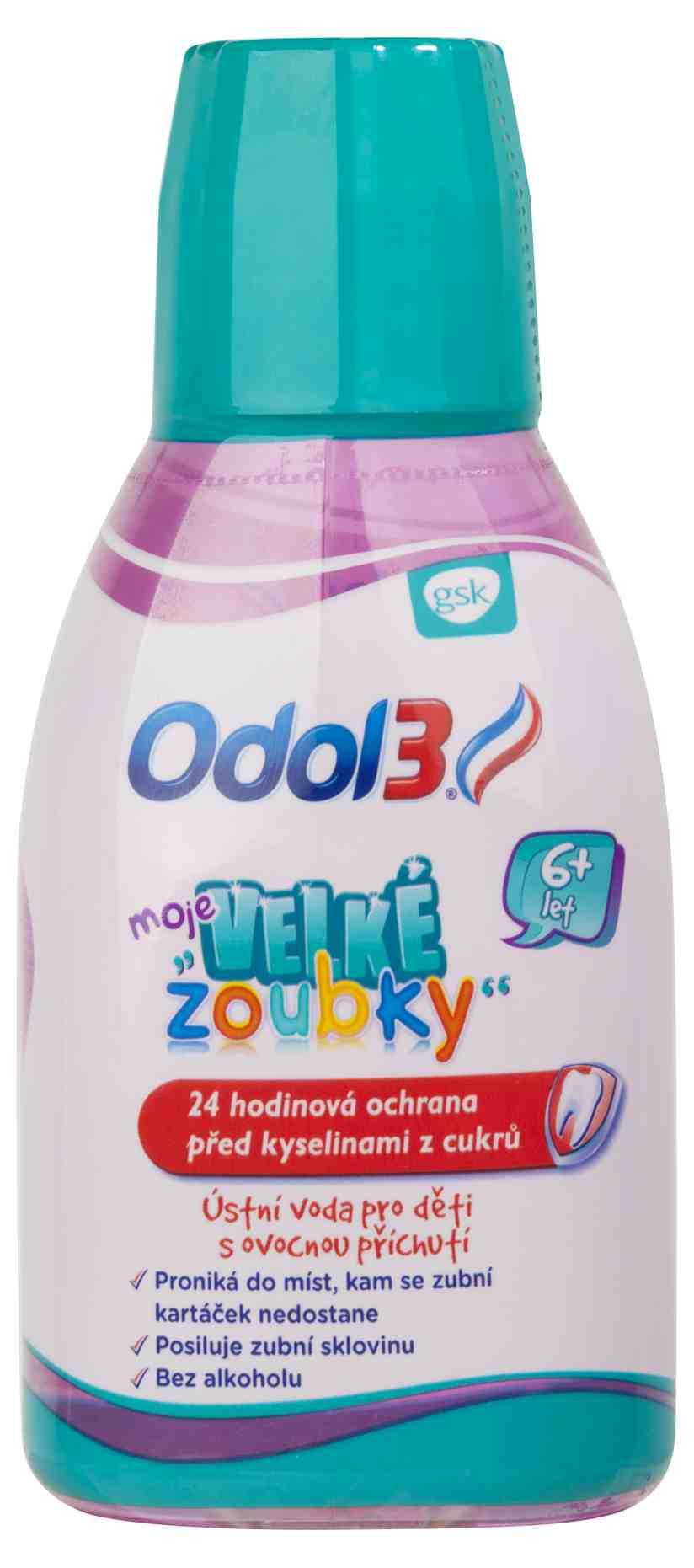 GlaxoSmithKline Odol 3 Dent ústní voda pro děti s ovocnou příchutí 300 ml
