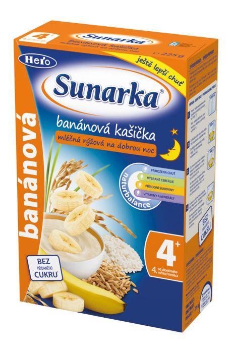 Hero Sunarka banánová kašička na dobrou noc mléčná 225 g