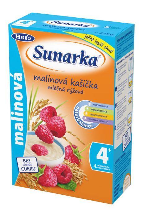 Hero Sunarka malinová kašička mléčná 225g