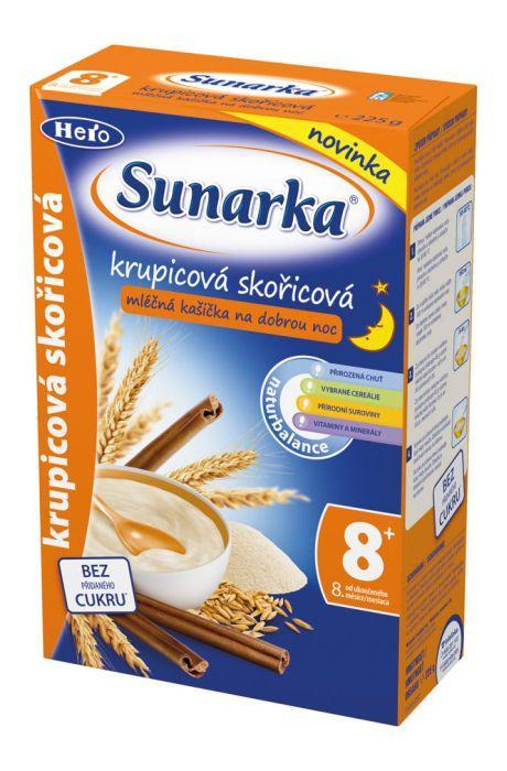 Hero Sunarka krupicová kašička se skořicí na dobrou noc mléčná 225 g