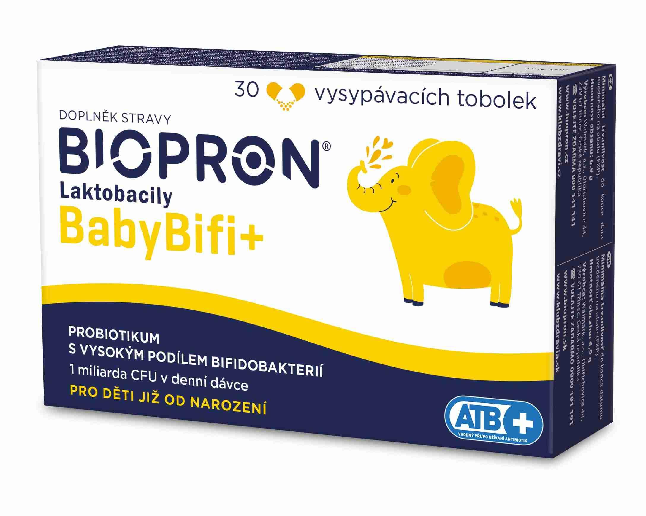 Valosun Biopron Laktobacily Baby BiFi+ 30 tob.