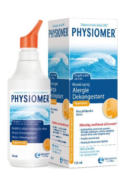 Physiomer Alergie a nosní dutiny Hypertonic 135 ml