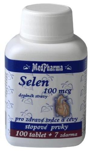 MedPharma Selen 100 mcg 100 tbl. + 7 tbl. ZDARMA