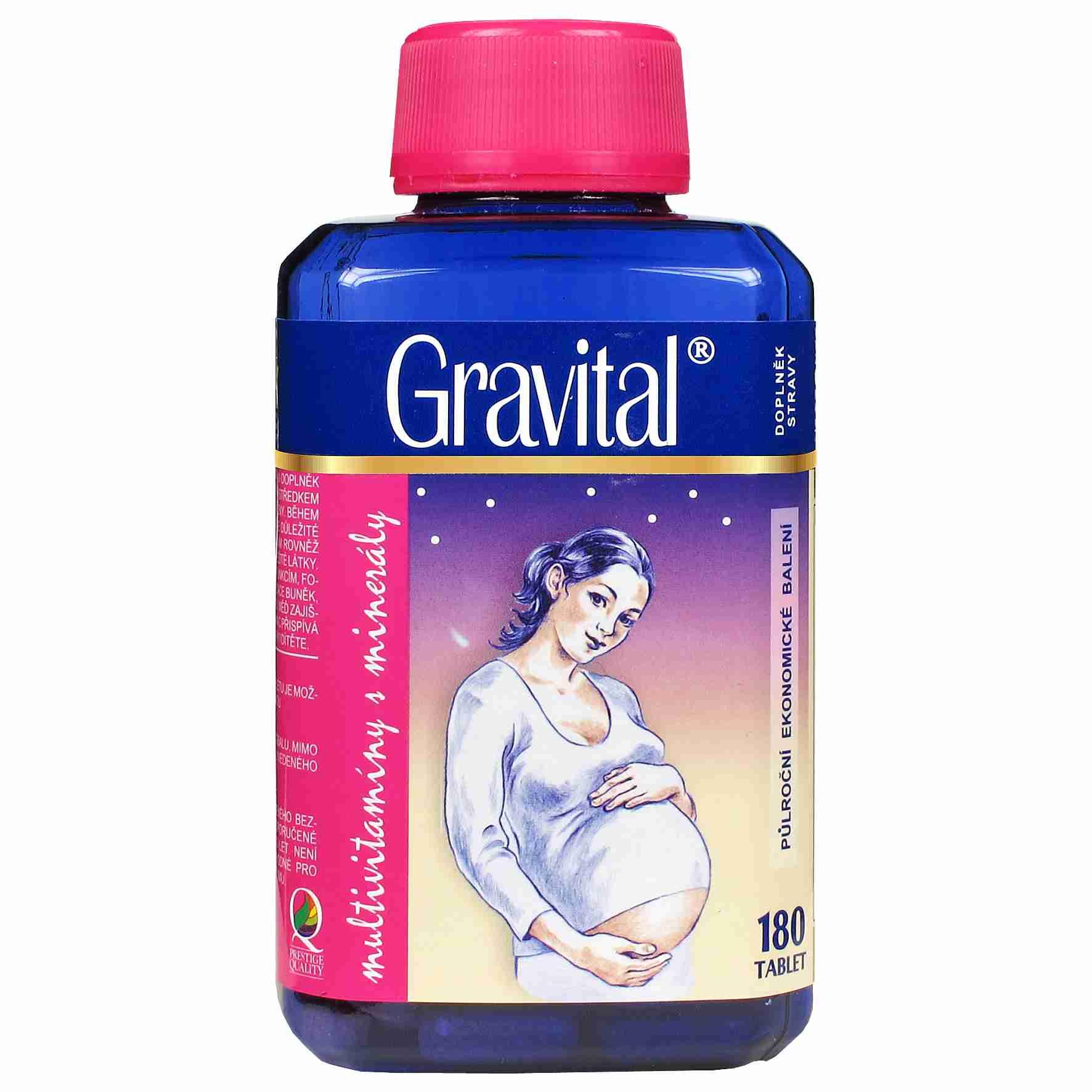 VitaHarmony Gravital pro těhotné a kojící ženy 180 tbl.