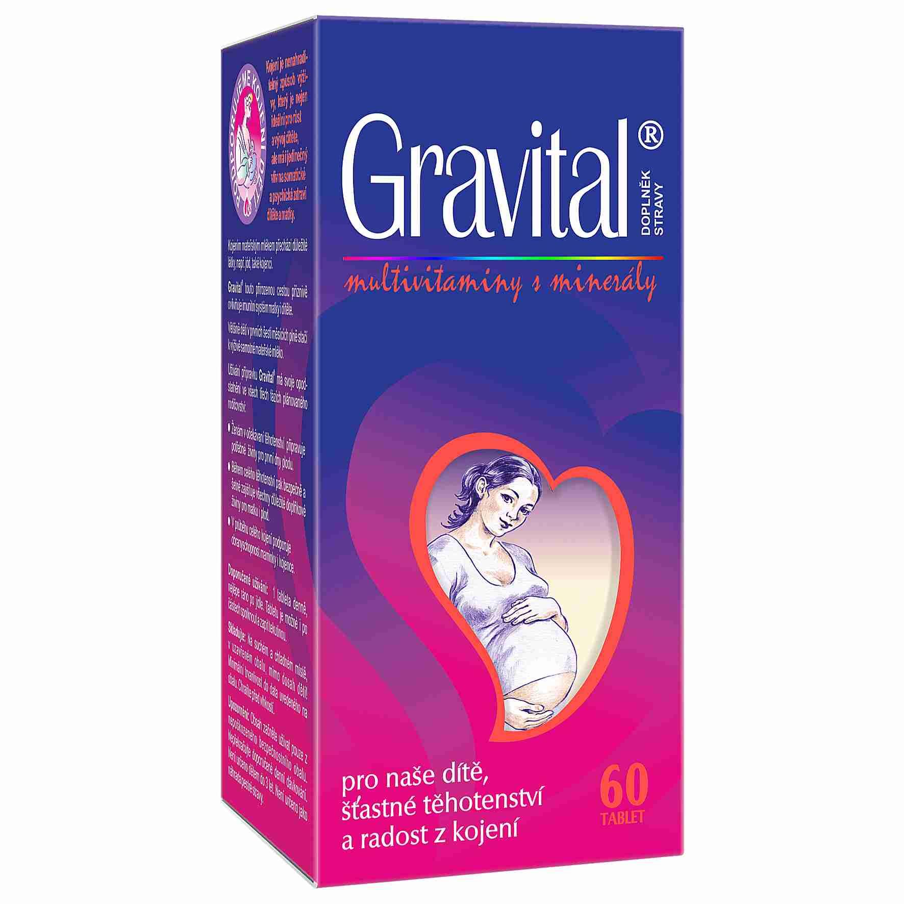 VitaHarmony Gravital pro těhotné a kojící ženy 60 tbl.