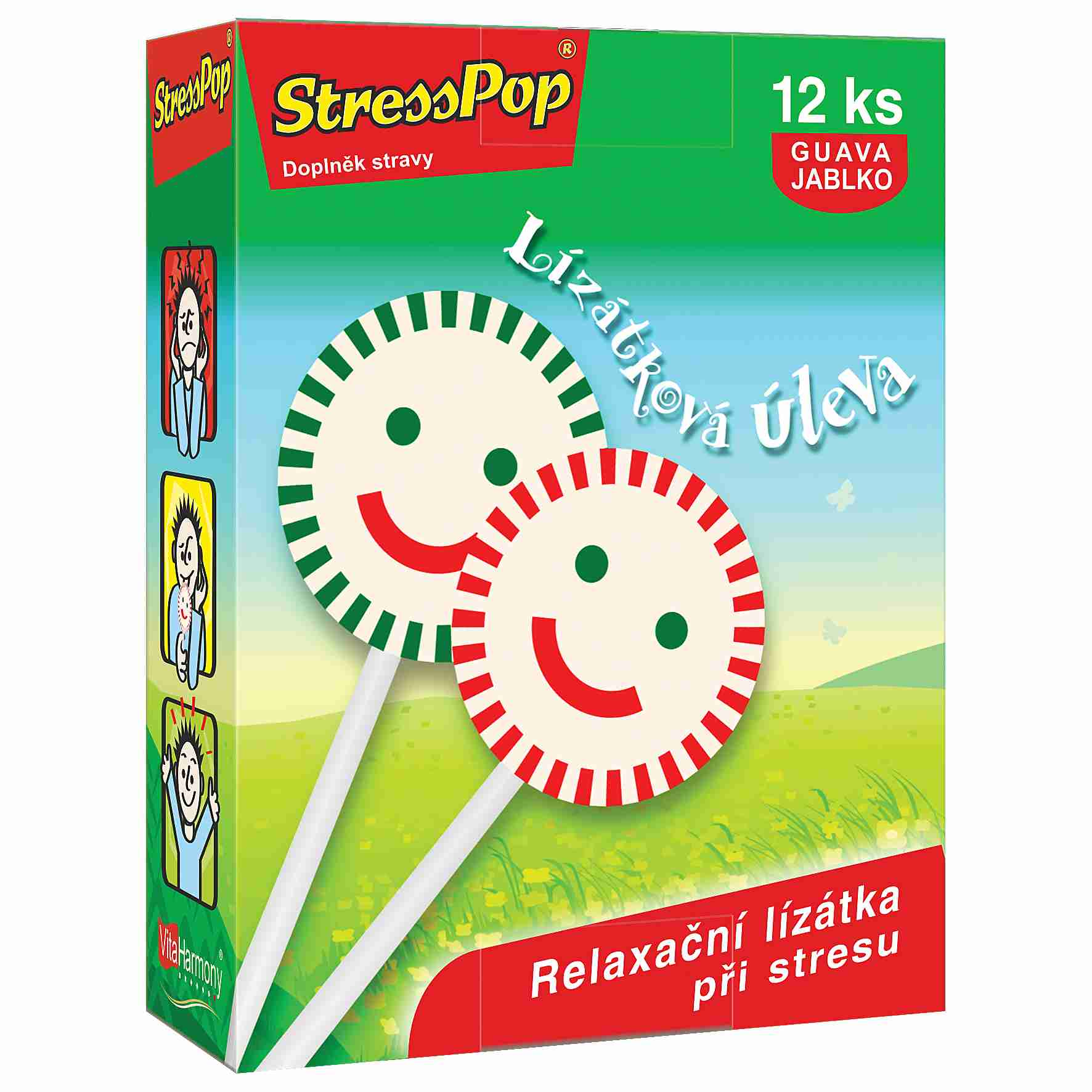 VitaHarmony StressDrops 12 lízátek proti stresu