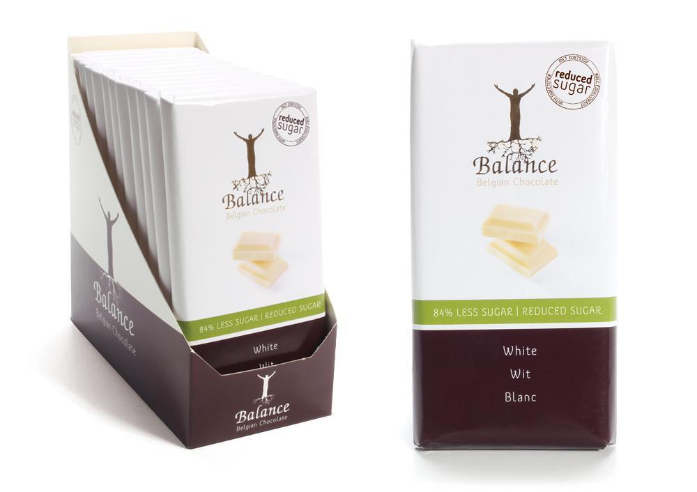 Balance bílá čokoláda s vanilkou bez přidaného cukru 100g