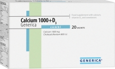 Generica Calcium 1000+D3 combi 20 sáčků
