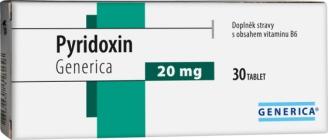 Generica Pyridoxin 20 mg 30 tbl.