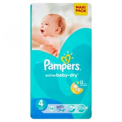 Procter&Gamble PAMPERS Active Baby 4 Maxi 7-14 kg 58 kusů