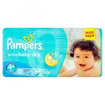 Procter&Gamble PAMPERS Active Baby VVP 4+ Maxi Plus 9-16kg 53 kusů