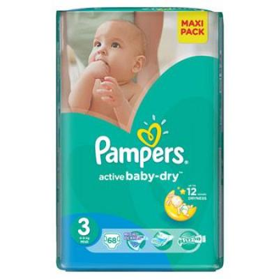 Procter&Gamble PAMPERS Active Baby VPP 3 Midi 4-9kg 68 kusů