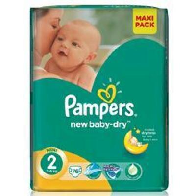 Procter&Gamble PAMPERS New Baby 2 Mini 3-6kg 76 kusů