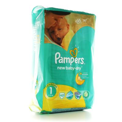 Procter&Gamble PAMPERS New baby 1 newborn 2 - 5 kg 43 kusů