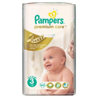 Procter&Gamble PAMPERS Premium Care 3 midi 4 - 9 kg 60 kusů