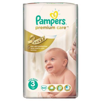 Procter&Gamble PAMPERS Premium Care 3 midi 4 - 9 kg 60 kusů