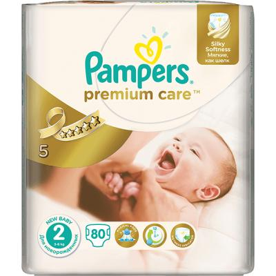 Procter&Gamble PAMPERS Premium Care 2 Mini 3-6 kg 80 kusů