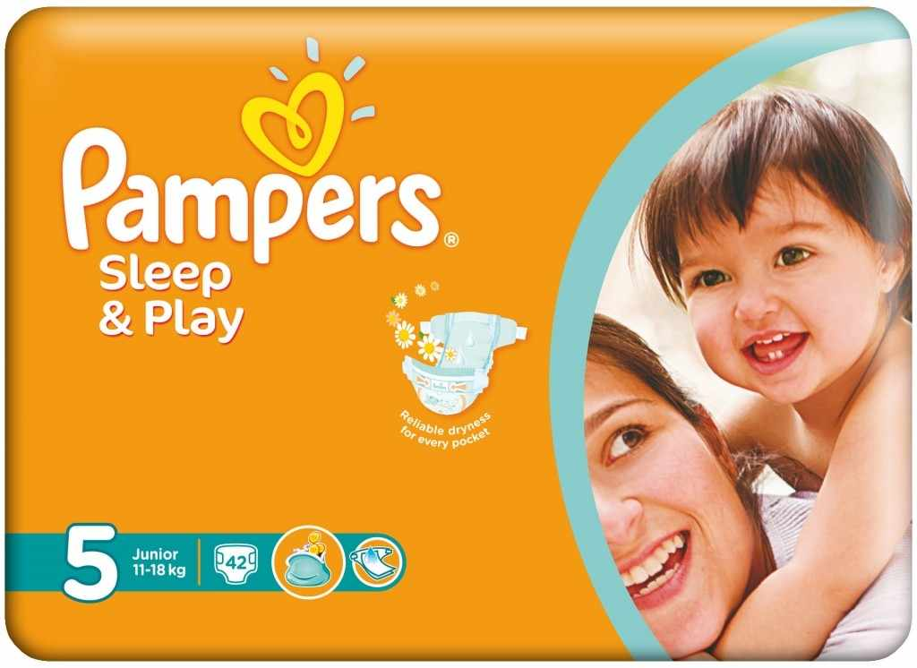 Procter&Gamble PAMPERS Sleep & Play 5 junior 11 - 18 kg 42 kusů
