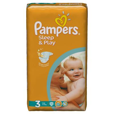 Procter&Gamble PAMPERS Sleep & Play 3 midi 4 - 9 kg 58 kusů