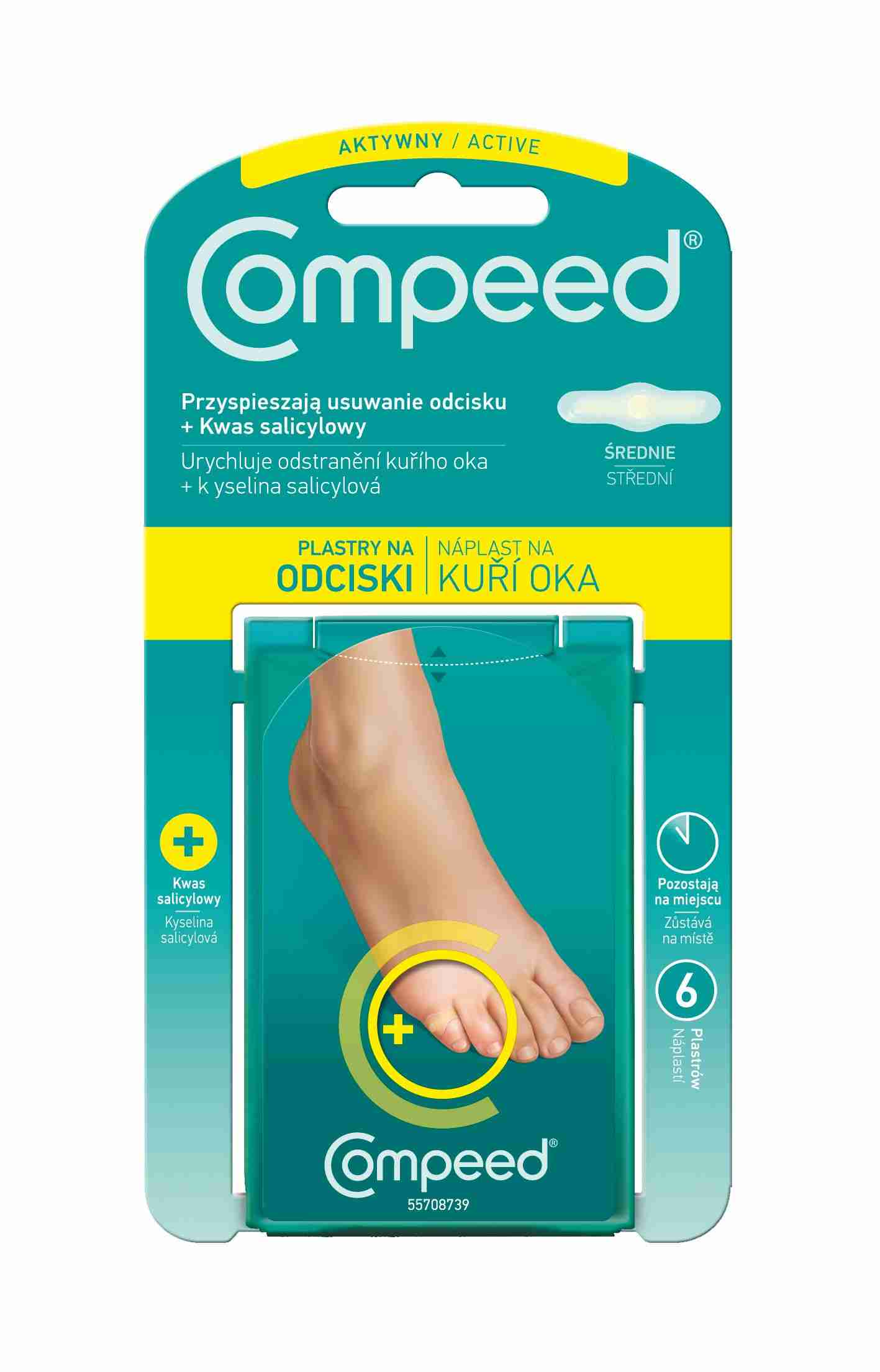 Johnson & Johnson COMPEED náplast na kuří oka Advanced 6ks