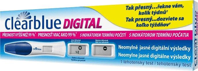 Spd Gmbh Švýcarsko Clearblue Těhotenský test s digitálním indikátorem početí 1 ks