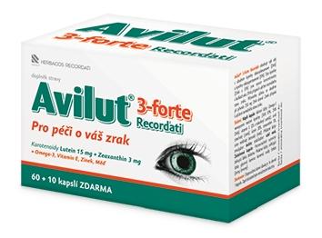 Herbacos Recordati s.r.o. Avilut® 3-Forte Recordati 60 kapslí + 10 kapslí ZDARMA