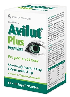 Herbacos Recordati Avilut® Plus Recordati 60 kapslí + 10 kapslí ZDARMA