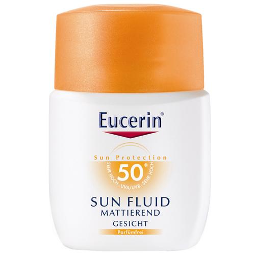 Eucerin Sun Zmatňující emulze na opalování na obličej SPF 50+ 50 ml
