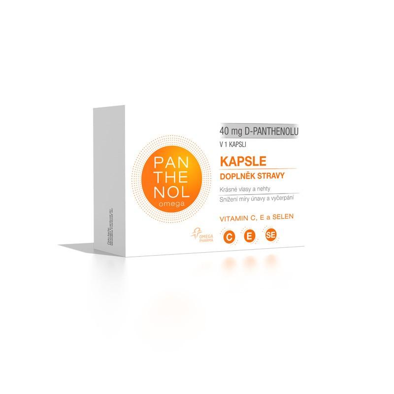 Omega Pharma Panthenol Forte kapsle se selenem a vit. C, E 60 tob.