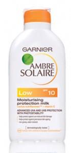Loreal Paris Garnier Opalovací mléko Low SPF 10 Ambre Solaire 200 ml