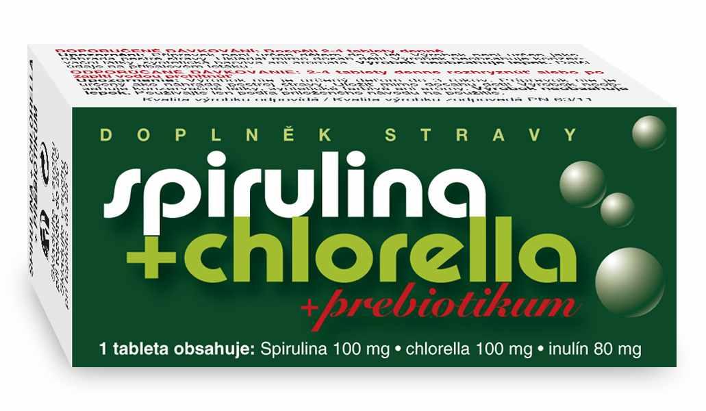 Naturvita Spirulina + Chlorella + Prebiotikum 90 tbl.