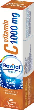 Vitar Revital Vitamin C 1000 mg s příchutí pomeranče eff. tbl. 20