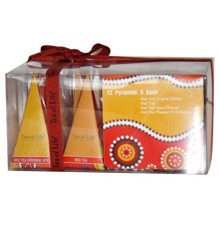 Tea of Life Rooibos Collection dárková kolekce 3 příchutě 12ks pyramid