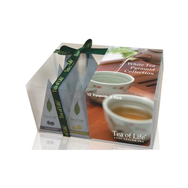 Tea of Life Bílý čaj dárková kolekce 4 příchutě 12ks pyramid