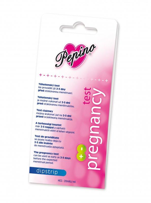 Zer Hitech Pepino Těhotenský test Dipstrip 1 ks