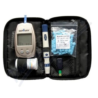 Infopia Co Glukometr EasyGluco s 25ks testovacích proužků+25 lancet