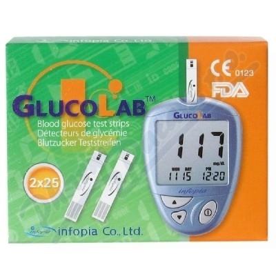 Infopia Co., Ltd. Testovací proužky pro glukometr GlucoLab 50 ks