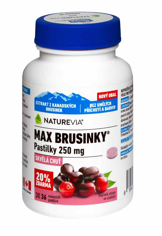 Swiss Max brusinky pastilky 30 + 6 tbl.