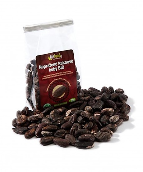 Lifefood Bio Kakaové boby nepražené 100% Raw Cacao 100g
